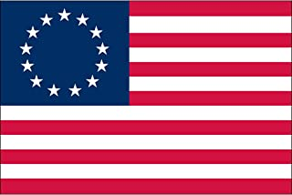 American Flag 3x5, Betsy Ross 13-Star Colonial US Flag, 100% Made in USA, Sewn Stripes, Embroidered Stars, 210D Oxford Nylon, Quadruple Stitched Fly End, Brass Grommets for Easy Display, U.S. Flag