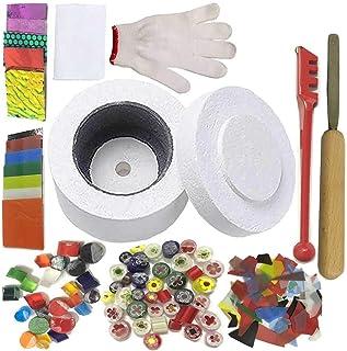 (Microwave Kiln Kit Set-10pcs) - Professional Microwave Kiln Kit Set - for DIY Jewellery Glass Fusing Kiln tools 10 Pcs Set