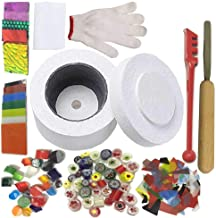Professional Microwave Kiln Kit Set - for DIY Jewelry Glass Fusing Kiln tools 10 Pcs Set
