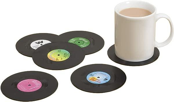 Spinning Hat Retro Vinyl Coasters