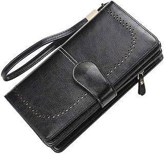 GUMAOPAJIAAAqb Monederos de Mujer, New Women Wallet Female Purse Leather Wallet Long Coin Purse Card Holder Money Clutch W...
