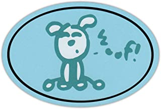 Oval Dog Car Magnet - Woof - Life Is Good - Magnetic Bumper Sticker