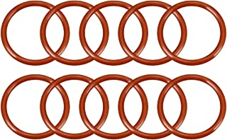 uxcell Silicone O-Ring, 22mm Outside Diameter, 18mm Inner Diameter, 2mm Width, VMQ Seal Rings Sealing Gasket Red, 10PCS