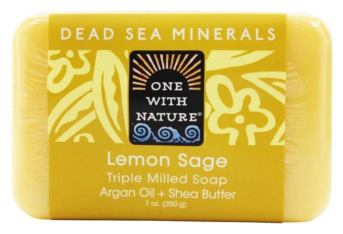 取り扱い最初はオセアニアOne With Nature - 死んだ海ミネラル バー石鹸穏やかな角質除去レモン セージ - 7ポンド [並行輸入品]