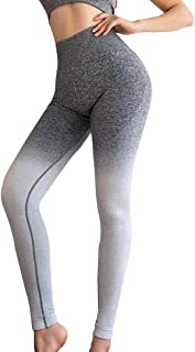 Women Yoga Pants Sports Gym Compression Tights Seamless Pants Stretchy High Waist Run Fitness Leggings Hip Push Up Tights