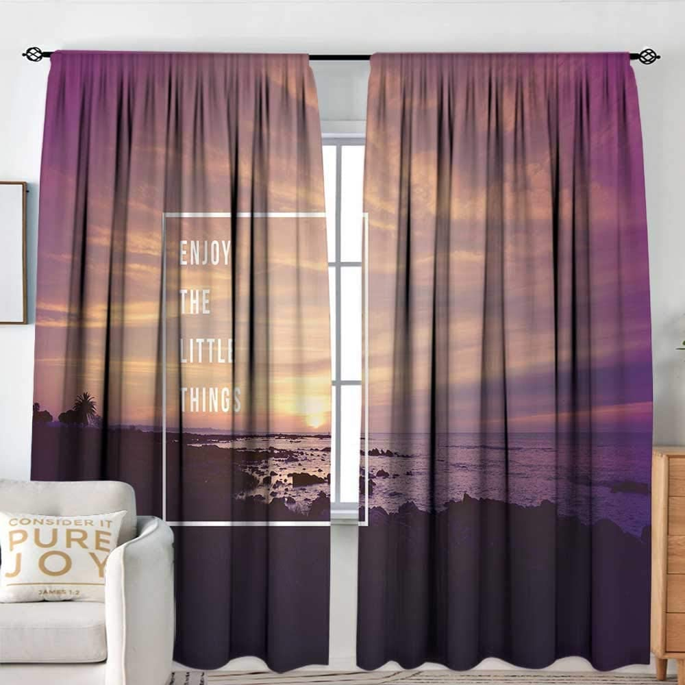 Decor Waterproof Curtains All stores are sold Motivational Max 53% OFF Sunset Trop with Beach on