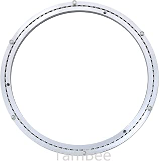 TamBee Heavy-Duty Mute 18 Inch Aluminum Lazy Susan Bearing Turntable Ring Swivel Plate Hardware for Heavy Loads