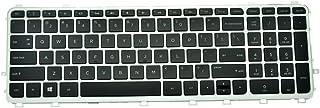 Eathtek Replacement Keyboard with Backlit and Black Keycap Silver Frame for HP Envy 15-J 17-J 15-j000 15-j000 15t-j000 15z...
