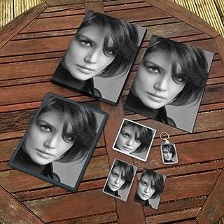 Katie Holmes - Original Art Gift Set #js002 (Includes - A4 Canvas - A4 Print - Coaster - Fridge Magnet - Keyring - Mouse M...