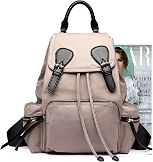 Tong Nylon Lightweight Waterproof Large Capacity Women's Backpack for Outdoor Travel Adventure (Color : Gray)