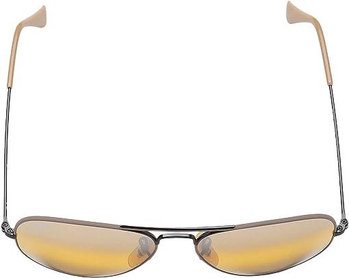 Black/Top Matte Beige/Yellow Bi-Mirror Grey