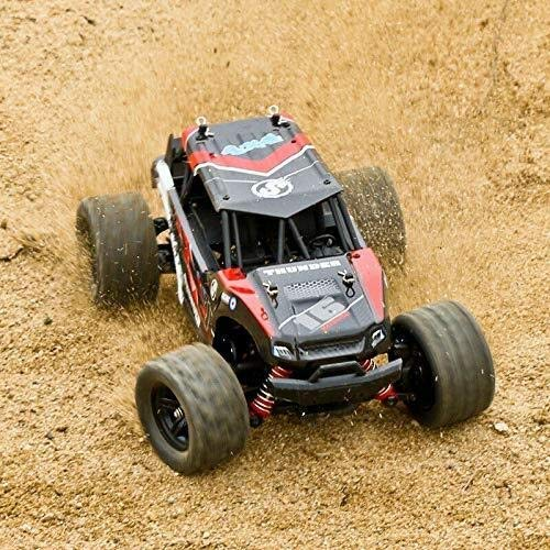 WGFGXQ Coche RC de Alta Velocidad 4WD Vehículo Todoterreno 40 + mph Coche de Control Remoto a Escala 1/18 45 km/h Coche de Carreras de camión RC de 2,4 GHz para niños