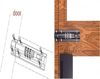 JU 4-Dial Combination Sliding Bolt Lock Exquisite Cabinet Communication Cabinet Password Lock Mechanical Plug with File Cabinet Locker Password Lock (Black)