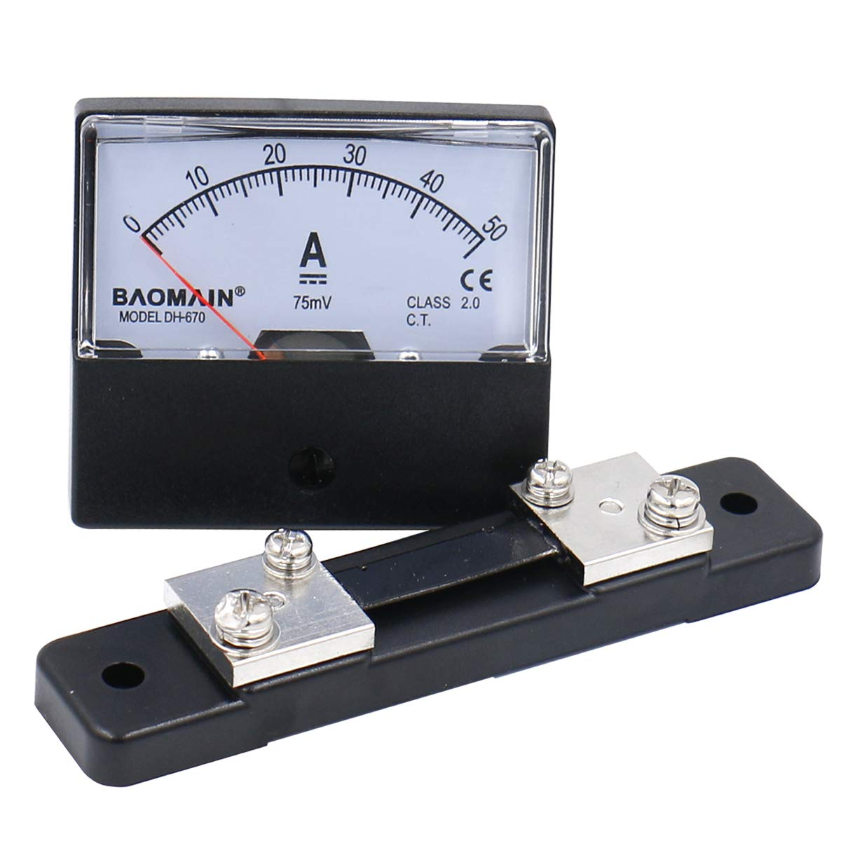 Baomain DH-670 Max 90% Regular discount OFF DC 0-50A Analog Amp Current Meter Panel w Ammeter