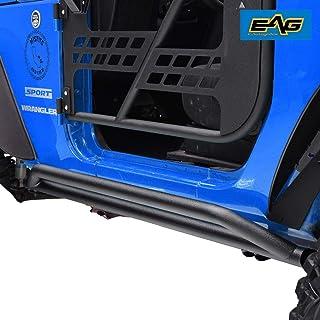 EAG Side Step Tubular Armor Rock Guards Fit for 07-18 Jeep Wrangler JK 2 Door