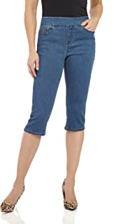 Womens Ease in to Comfort Fit Stretch Jean Capri