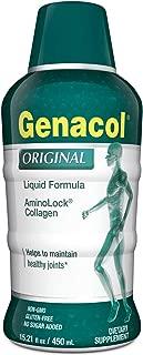 GENACOL Original Liquid Collagen Peptides for Joints, Bones and Skin   High Absorption Hydrolyzed Collagen   Sugar-Free Non-GMO (15.21 fl Oz.)