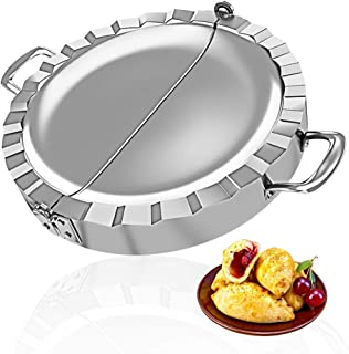 PAMISO Large Empanada Maker, 5.5 inch Stainless Steel Empanada Press, Pastry Tools, Pocket Pie