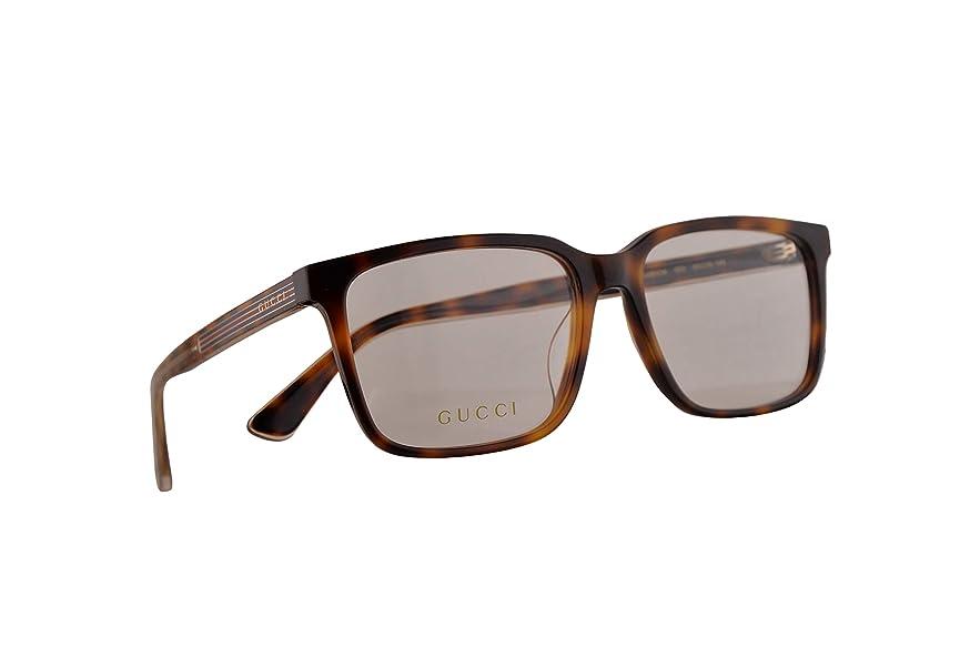 Gucci GG0385OA Eyeglasses 55-16-145 Light Havana w/Demo Clear Lens 003 GG 0385OA