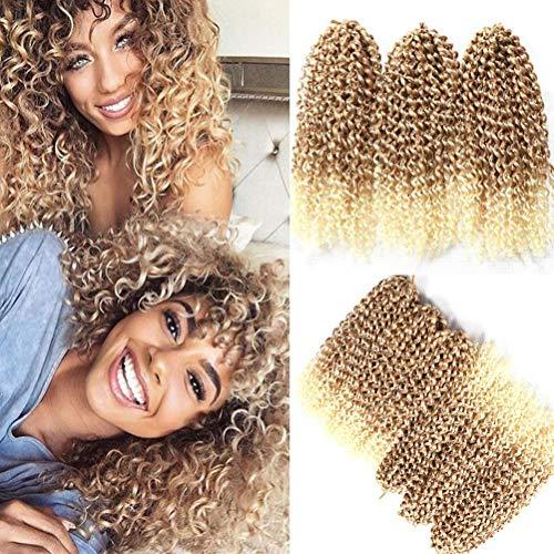 Set di 6 extension metodo crochet di capelli sintetici ricci ondulati, piccole ciocche, 30,5 cm, stile Marlybob