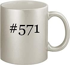 #571 - Ceramic Hashtag 11oz Silver Coffee Mug, Silver