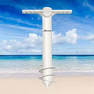 MOVTOTOP 2019 Newest Beach Umbrella Sand Anchor, Heavy Duty Umbrella Holder One Size Fits All to Withstand Strong Winds