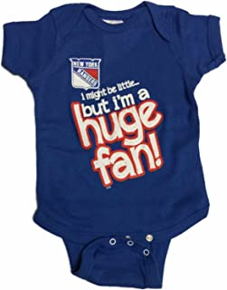 31b1262712e Soft As A Grape New York Rangers SAAG Baby Infant Blue Huge Fan Short  Sleeve One