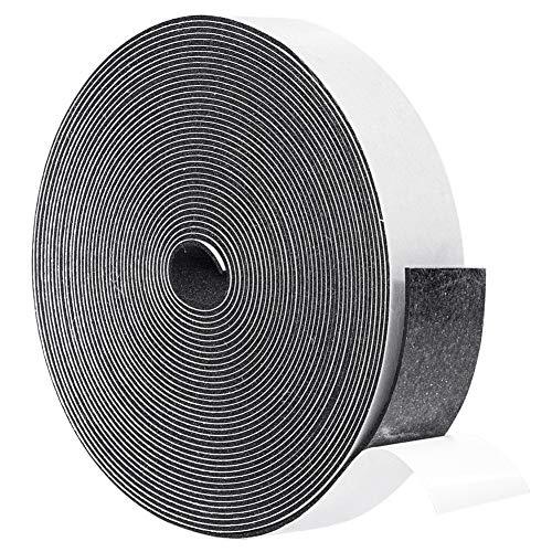 Tiras de espuma adhesivas de 1/16 pulgadas de grosor x 1 pulgada de ancho, 15 mm de celda cerrada, cinta adhesiva de goma para aislamiento de puertas, total 33 pies de largo