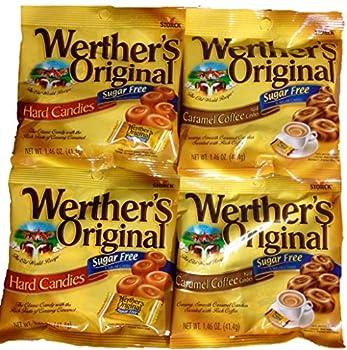Werther s Original Sugar-Free Candies Bundle - 4 Items  Sugar-Free Hard Candies and Sugar-Free Caramel Coffee Hard Candies