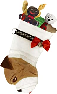 Hearth Hounds - English Bulldog - Realistic Dog Stocking for Holidays, Christmas and Animal Lovers, Great Gift Bag for New Dog Owner Or Doggie Birthday