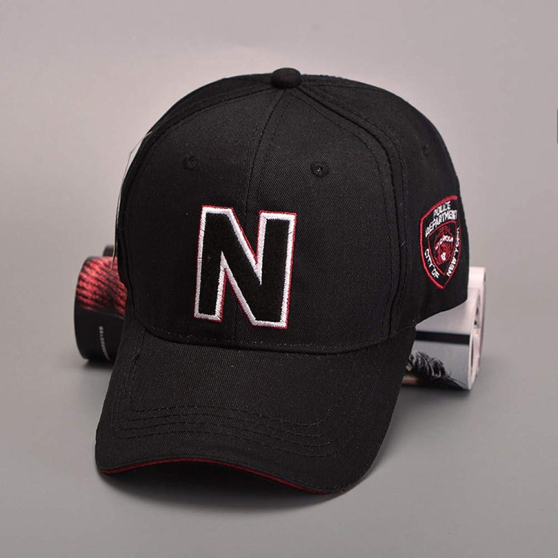 WYKDA N Letter Baseball Cap, Police Cap for Men, Bone Gorras Casquette Summer Sun Hats for Men, Adjustable Sport Caps Chapeau Homme