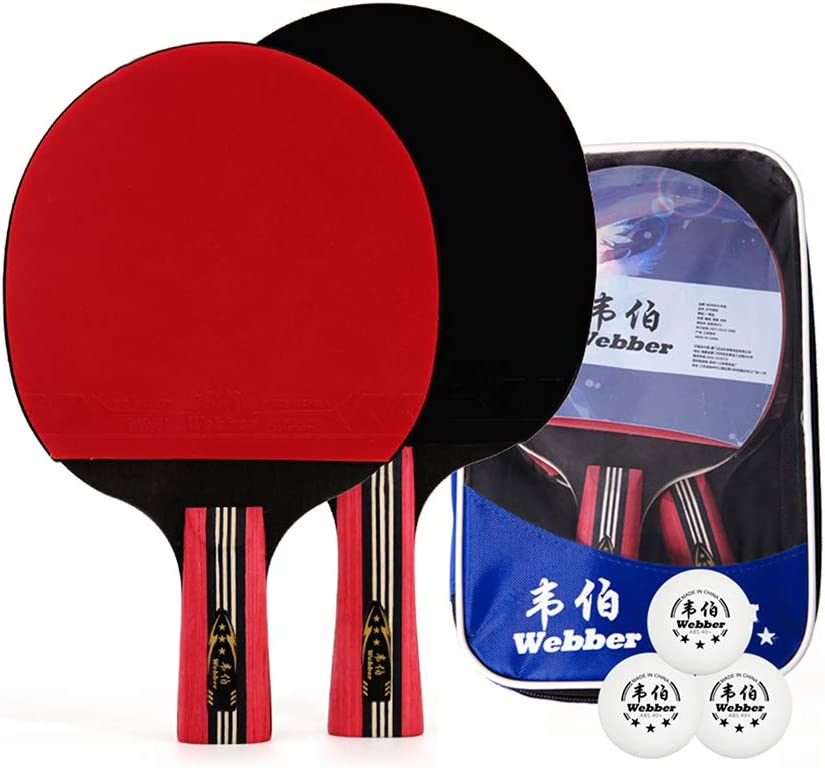 Performance 2-Player Table Tennis Set Includes Two Rackets and T