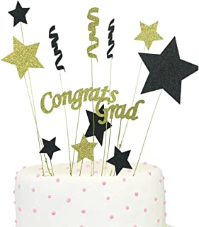 Congrats Grad Cake Topper 2019 Graduation Party Decorations 2019 Supplies
