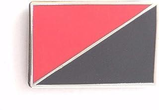 1000 Flags Anarchy Anarcho-Communism Anarcho-Syndicalism Flag Metal Pin Badge