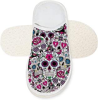 Sugar Skulls Memory Foam Slipper Cotton House Slippers Washable Anti-Slip Indoor Shoes