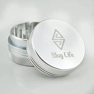 Slug Life Herb Grinder 2 Parts 1.5 Inch (Silver)