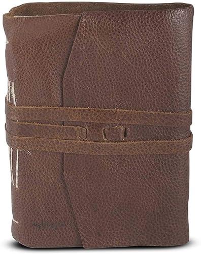 muy popular MICHELANGELO Piel genuina, genuina, genuina, piel de becerro, hecha a mano, Italia - Pompei Journal en cuero 4x13 H18.5 cm (MARRóN)  cómodamente