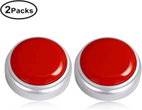 Cover Talking Button Easy Button Record Any 30 Second Surprise Message Record Answer Buzzers Set of 2 (Red-Silver)