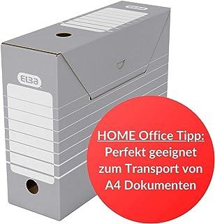 Elba 83420 tric Lot de 50 boîtes d'archivage pour documents ou registres Gris/blanc
