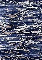 Momeni Rugs MONTEMO-01BLU2030モントレーコレクションコンテンポラリーエリアラグ、2 'x 3'、ブルー