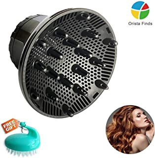 Universal Hair Diffuser, Hair Dryer Diffuser Attachment for Curly and Natural Wavy Hair, Professional Blow Dryer Diffuser, Adjustable from 1.4 Inch to 2.6 Inch