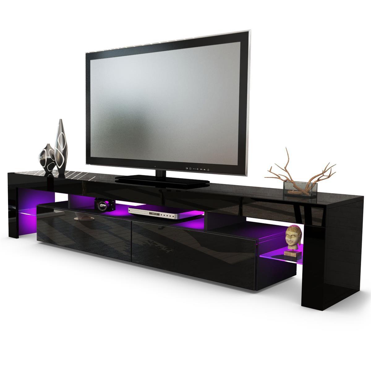 Helios 200 - Mueble de TV con Soporte para TV, Color Negro y Negro: Amazon.es: Electrónica