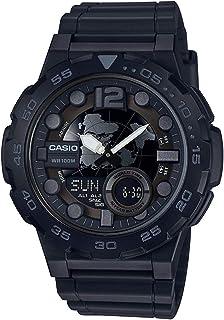 Casio Sport Watch For Boys Analog-Digital Resin - AEQ-100W-1B
