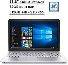 2019 HP Pavilion 15.6 Inch FHD Laptop (8th Gen Intel Quad Core i7-8550U up to 4.0GHz, 32GB DDR4 RAM, 512GB SSD (Boot) + 2TB HDD, NVIDIA GeForce 940MX 4GB, Backlit Keyboard, Bluetooth, Windows 10)