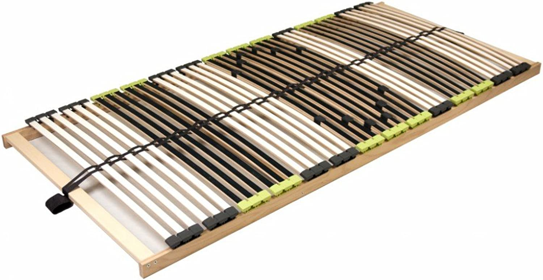 DaMi 7 Zonen Buche Lattenrahmen zerlegt Lattenrost Relax NV inkl. 6 fache Hrteverstellung (70 x 200 cm)