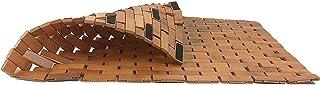 Kimmyer Alfombra de baño de bambú Natural Cosida a Prueba de Agua para el baño - para la Ducha Antideslizante Alfombras de bambú cuadradas ecológicas y ecológicas para Interiores y Exteriores