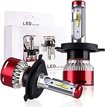 DODOFUN H4 HB2 9003 Car LED Headlight Bulb Conversion Kit - High Beam Low Beam and Fog Light Replacement 6000K Xenon White Ultra High Performance Bright Non-polarity