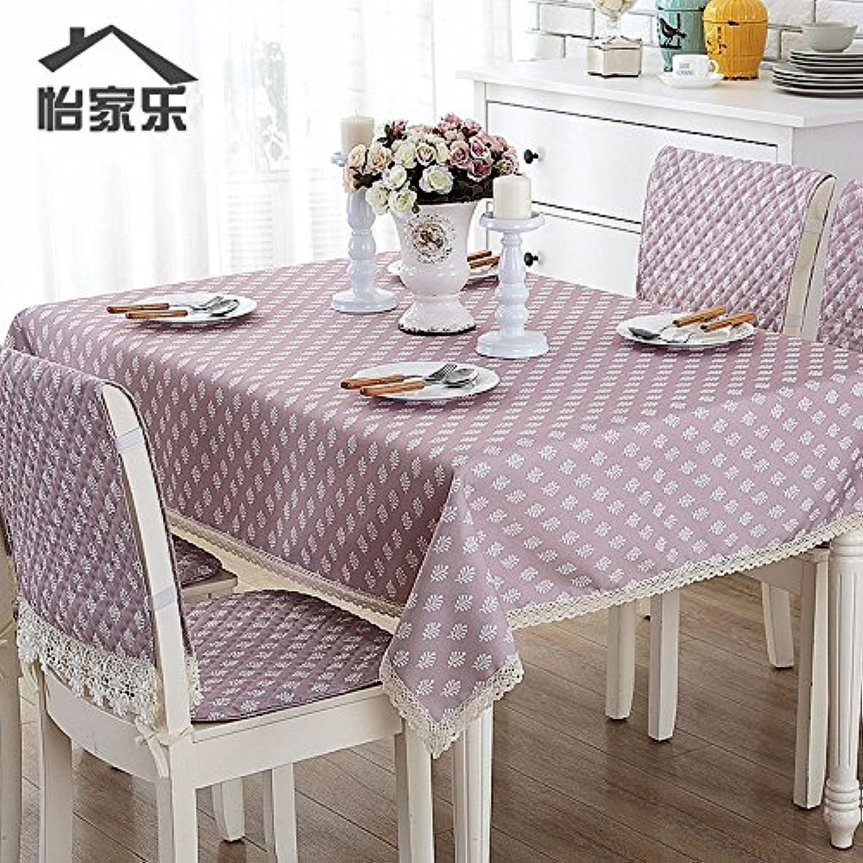 JinYiDian'Shop-Baumwolle wasserdicht Tischdecke, Tischdecke, l- und Eisen-Proof rechteckig Square Round Table, Single, 140, E