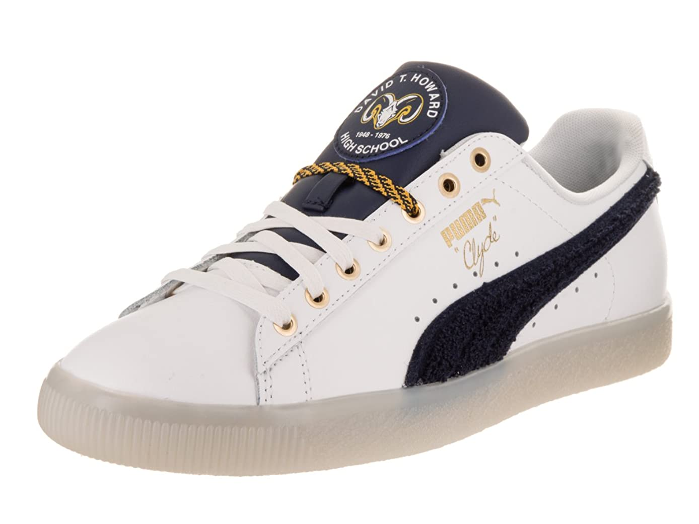 PUMA Mens Clyde Leather BHM