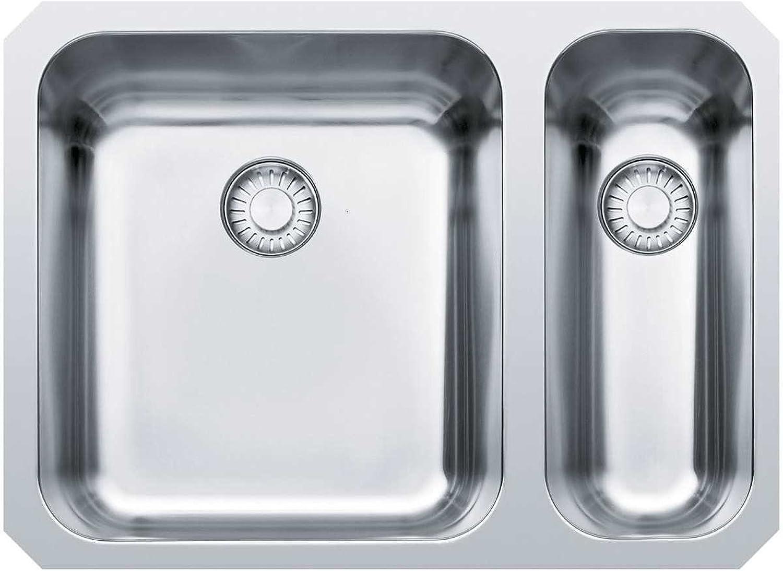 Franke Epos EOX 160 Edelstahl-Spüle glatt Unterbaubecken Spültisch Küchenspüle Exzenter